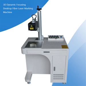 3D Dynamic Focus 30w 50w 60w 100w 120w Fiber Laser Marking Machne for Curved Surface,Relief Marking, 3D Marking